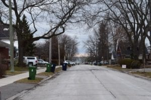 View corridor looking south along Fortieth Street toward Lake Ontario. Jaan Pill photo