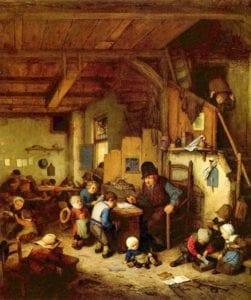 Source: March 19, 2017 tweet from KanatlarımVarBenim @angell_bird - The Schoolmaster, 1662 - Adriaen van Ostade ( Dutch, 1610 - 1685)