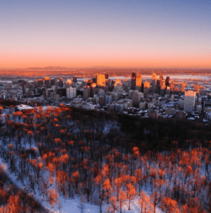 Sunset on Mount Royal. Source: Tourisme Montréal Twitter account @Montreal #Sunset on Mount Royal @guillaumeboily https://goo.gl/5Y3Yqx #MTLmoments