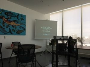 Screening room at Aboriginal Resource Centre