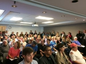 The meeting had an exceptionally good turnout. Jaan Pill photo