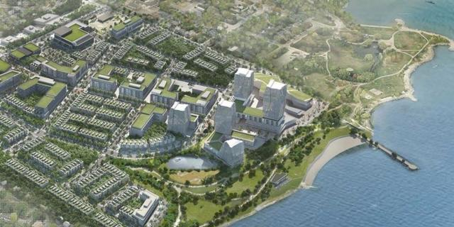 The draft plan outlines a vision for the site, image via West Village Partners