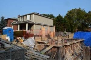 Construction next to 20 Garden Place. Sept. 17, 2017. Jaan Pill photo