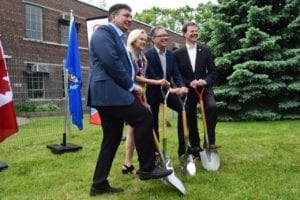 Groundbreaking ceremony at Small Arms Building, June 17, 2017. Jaan Pill photo