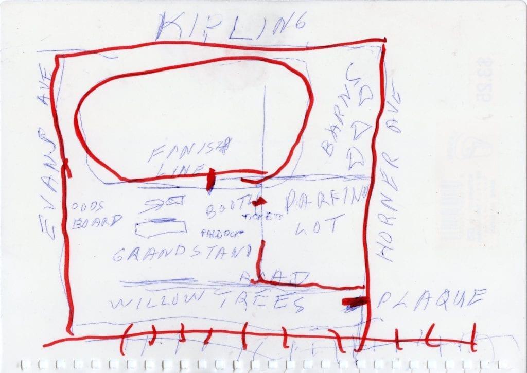 Map of Long Branch, prepared by Bill Rawson Bill Rawson, June 11, 2017.