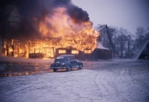 Slide 2. Caption details regarding the 1958 fire at Long Branch Hotel will be added down the road. Alex Stewart photo. Click on the photo to enlarge it; click again to enrol it further.