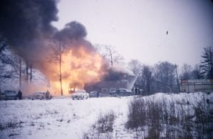 Slide 6. Caption details regarding the 1958 fire at Long Branch Hotel will be added down the road. Alex Stewart photo. Click on the photo to enlarge it; click again to enlarge it further.