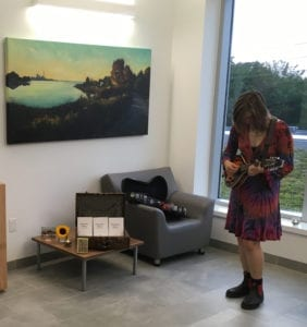 Saffron, a friend of Sheila's and a Humber student, performed at the Route 501 opening on Aug. 30, 2017. Jennifer Bazar photo