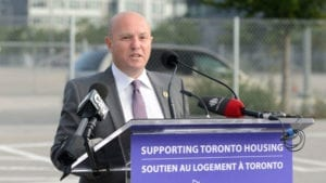 The photo is from the CBC article highlighted at the post you are now reading. The caption reads: Housing Minister Peter Milczyn defended provincial measures to cap rent in the province, arguing that they are making the market more fair for Ontario residents. (Twitter)