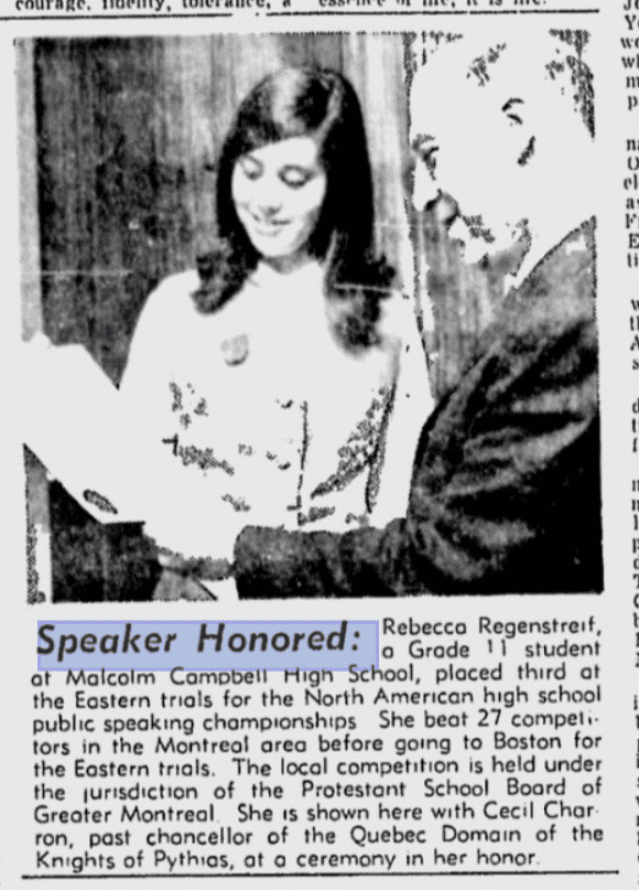MCHS - Public Speaking - The Montreal Gazette - 02 OCT 1965 - Google News Archive Search