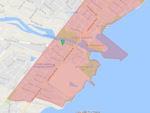 port credit boundaries west side