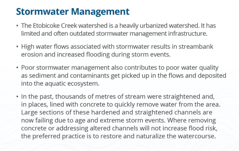 Etobicoke Creek stormwater management 2018
