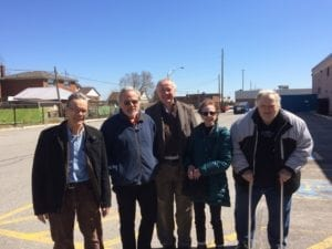 Left to right, on April 20, 2018 outside Mandarin restaurant: Jaan Pill, Scott Munro, Daniel, Rita, Bob Carswell
