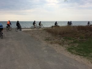 The ride included a visit to Marie Curtis Park. Jaan Pill photo