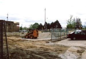 After demolition of Eastwood Hotel, construction of Rexall Pharmacy begins, 2008. Jaan Pill photo