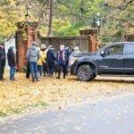 Source: Nov. 6, 2018 Niagara Now article features at the post you are now reading. Caption reads: Residents concerned about trees being cleared from John Street properties gather in protest. (Richard Harley)