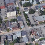 Screen shot of Google Maps 3D image of Uptown Saint John. Click on image to enlarge it.