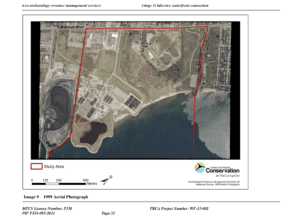 Archaeological assessment (report of July 25, 2013) of Lakeview Waterfront Connection Project