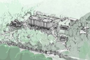 "The image is from the Feb. 13, 2019 Niagara Now article featured at the post you are now reading. Caption reads: ""Artist rendering of the proposed six-storey hotel at Randwood Estate in Niagara-on-the-Lake. (Supplied)."""